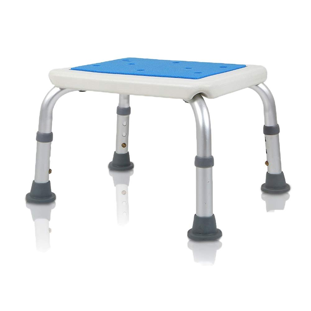 Beauty Aluminum Alloy Bath Stool Elderly/Pregnant Women/Disabled Non-Slip Bath Stool,3 Height Adjustable Square Chairs, Bearing Weight 136kg
