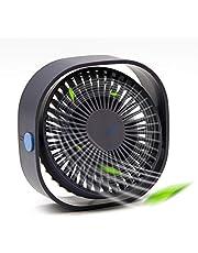 Desk Fan, USB Fan with 3 Speeds Mini Fan Desktop Fan Portable Fan Quiet Strong Wind USB Desk Fan for Office, Home (Navy Blue)
