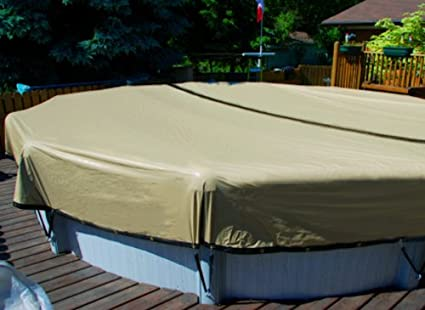 28\' Round Above Ground Swimming Pool ULTIMATE ARMORKOTE Winter Cover-12 Year