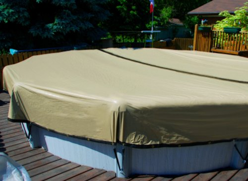 Oval Armorkote Cover Pool Winter (12'x24' Oval Ground Swimming Pool ULTIMATE ARMORKOTE Winter Cover-12 Year)