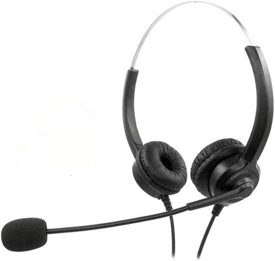 QIND USB Headset with Microphone, Gaming Headphones with Mic for Computer Laptop PC Call Center, Noise Cancelling