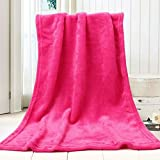 NUOMI Dog Blanket Warm Pet Cat Flannel Blankets Sleep Mat Pad Bed Cover Small Animals Soft Throw, Washable Blankets, Red