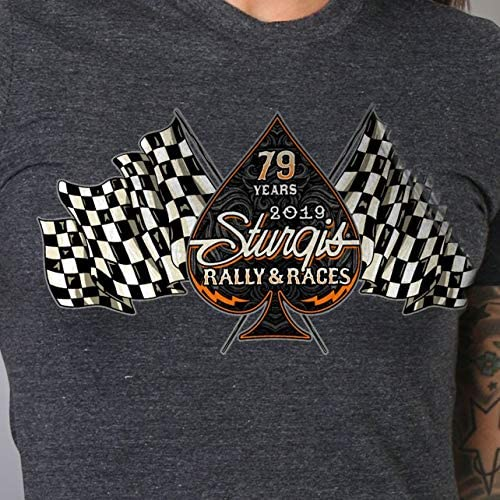 Official 2019 Sturgis Motorcycle Rally Ladies Bear Beauty Tank Top HTR CHAR Medium