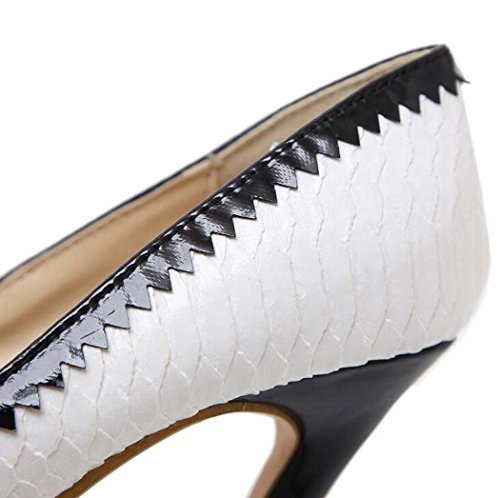 Tac Sandalias Peep Toe de Mujer Zapatos de yTY0qRwT