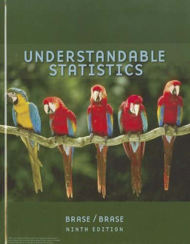 Brase Understandable Statistics Advanced Placement Edition Ninth Edition