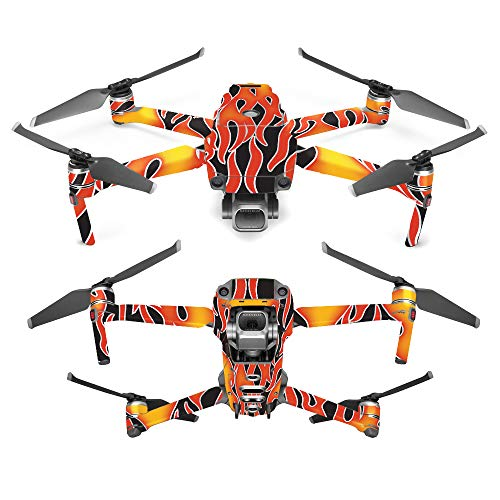 MightySkins Skin for DJI Mavic 2 Pro or Zoom - Hot Flames | Protective, Durable, and Unique Vinyl Decal wrap Cover | Easy to Apply, Remove, and Change Styles | Made in The USA