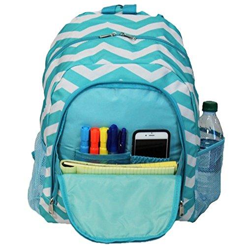 World Traveler Multipurpose Backpack 16-Inch, Blue White Chevron, One Size by World Traveler (Image #4)