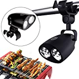 TianranRT Waterproof Outdoor BBQ Grill Light 10 LED Tent Lamp Grill Handle Holder Clip