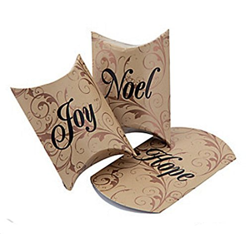 Joy Box (48 CHRISTMAS HOLIDAY SMALL PILLOW BOXES ~ HOPE JOY & NOEL ~ PARTY FAVOR BOXES ~ FANCY AND ELEGANT (48))