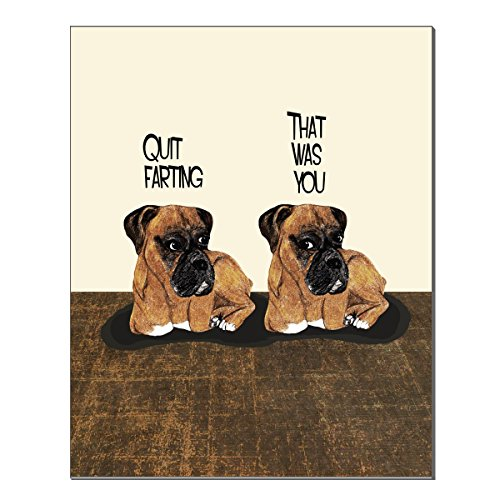 Humorous Wall Art (Farting Boxers 11X14 inch Art Print by Pithitude)