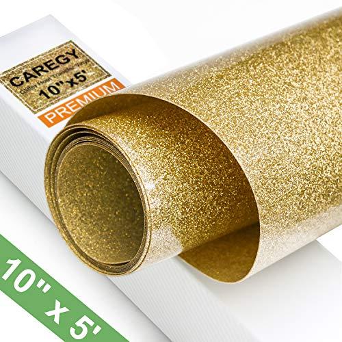 Where to find heat transfer vinyl rolls gold glitter?