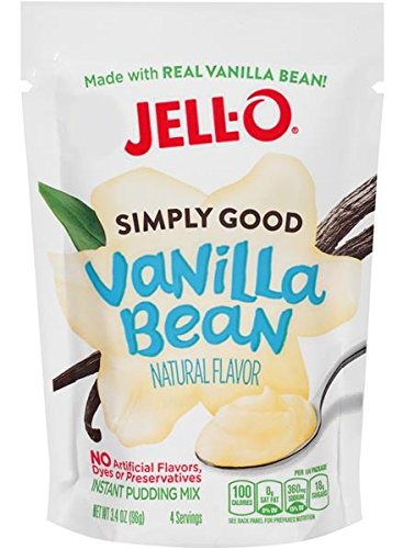 Jell O Simply Good Vanilla Bean Instant Pudding Mix 3 4 Oz   Pack Of 4