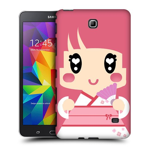 Head Case Designs Pink Japanese Kimono Girl Kawaii Protective Snap-on Hard Back Case Cover for Samsung Galaxy Tab 4 7.0 T230 T231 T235