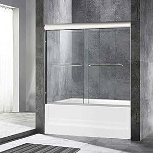 Woodbridge Frameless Sliding Bathtub Door 56 To 60 By 62 2 Large
