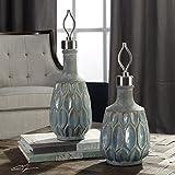 Vhomes Lights Arpana Blue and Gray Bottles S/2