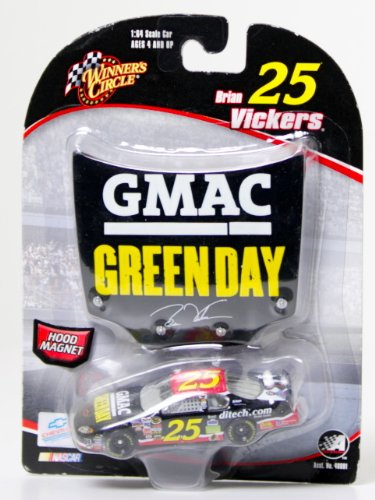 Brian Vickers #25 Green Day GMAC Monte Carlo 1/64 Scale & Bonus Magnet 1/24 Scale Hood Winners Circle