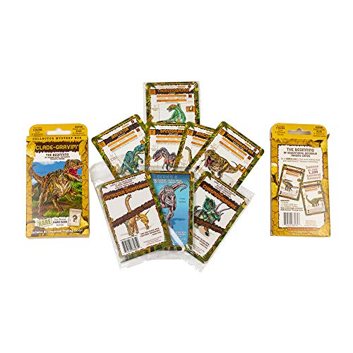Clade-Gravim® Trading Cards for Boys Dinosaurs Collector Mystery Box 3 Educational Dinosaur 3 Packs from 3 Series Adults Girls