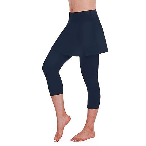 VPASS Mujer Pantalones Falda Mallas Mujer Fitness Elásticos Mallas ...