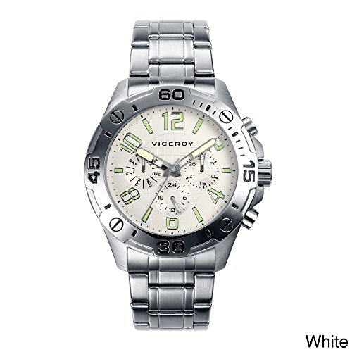 Viceroy Men's 40393-05 Silver Stainless Band Watch.