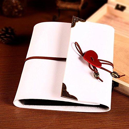 Teacher Memory Album (SAIBANG DIY Album Wedding LOVE Design Scrapbook Vintage Photo Album Anniversary Scrapbook DIY Photo Albums Valentines Day Gifts Christmas Gifts (M, White))