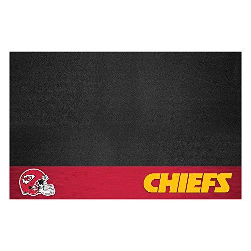 Fanmats 12189 NFL Kansas City Chiefs Vinyl Grill Mat