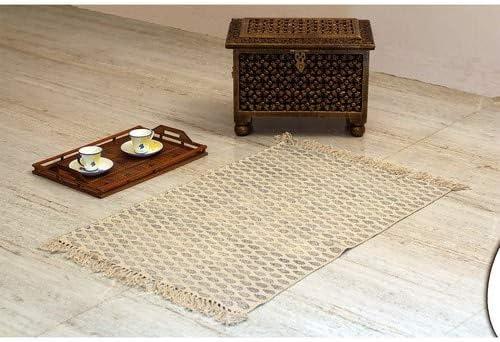 Stylla London® Alfombra India para decoración del hogar para Sala de Estar con impresión de