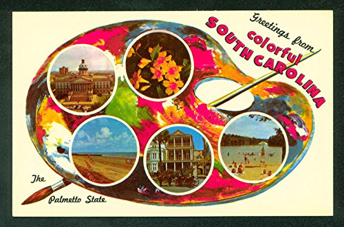 Carolina MultiView Vintage Postcard (Monarch Palette)