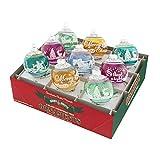 RADKO Shiny Brite Vintage Celebration Signature Flocked Christmas Ornaments 4026819