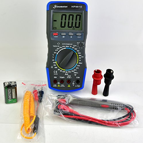 Sinometer HP9810 Automotive Digital Multimeter with Thermometer and Carrying Case by Sinometer (Image #4)