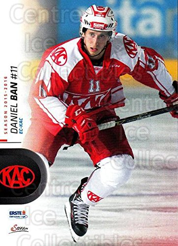 (CI) Daniel Ban Hockey Card 2015-16 Erste Bank Eishockey Liga EBEL (base) 55 Daniel - 16 Ban