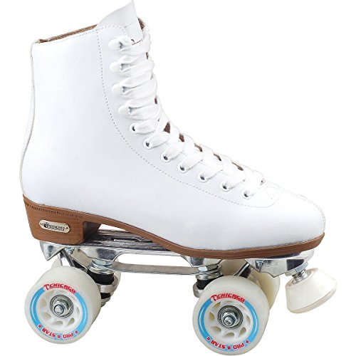 Chicago Women's Leather Lined Rink Roller Skate (Size 10), White ()