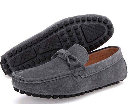 Los Zapatos Ligeros De Los Zapatos Ocasionales Que Conducen Los Zapatos De Los Hombres Antideslizantes Del Ocio Grey