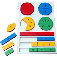 Little Genius Wooden Fraction Board, Multi Color