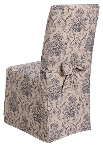 Chateau Dining Chair (Madison Chateau Slipcover Slicover, Dining Room Chair, Navy)