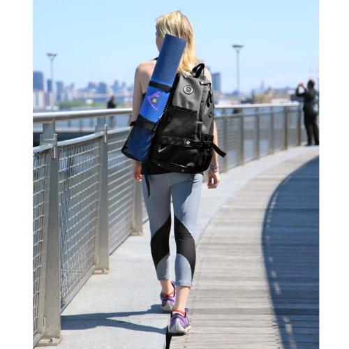 b90dfb001003 Aurorae Yoga Multi Purpose Cross-body Sling Back Pack Bag. Mat sold ...