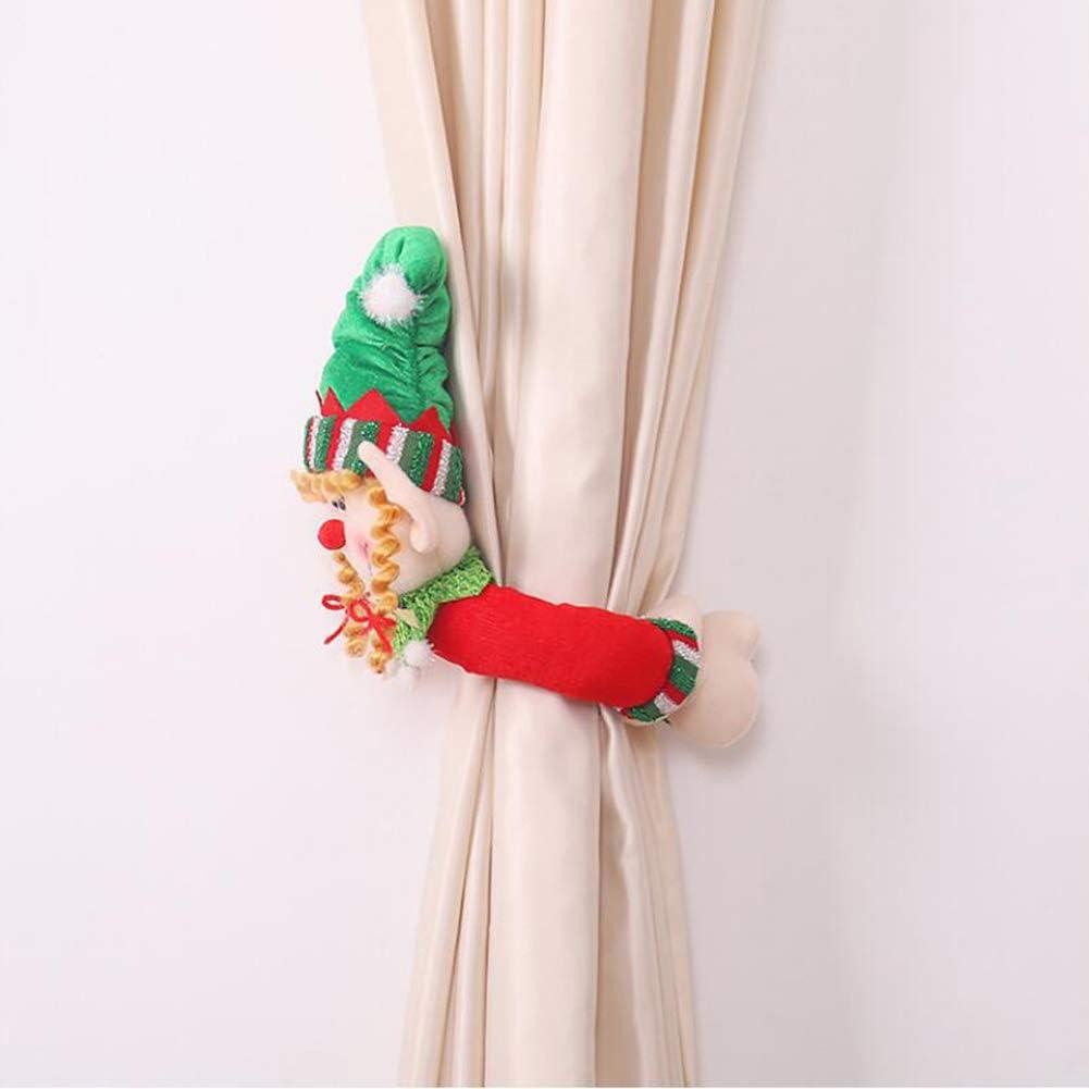 P12cheng Fibbia per tenda natalizia decorazione per la casa con chiusura a fibbia per finestra di Natale
