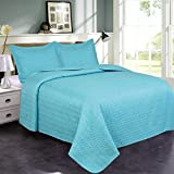queen quilt and shams - Jml Luxury Ultrasonic Queen Quilt Set with Shams - 3 Pieces - Soft Brushed Microfiber, Lightweight Hypoallergenic All-Season Bedding Bedspread