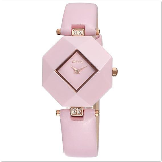 Astarsport - Reloj de pulsera para mujer, resistente al agua, correa de piel auténtica