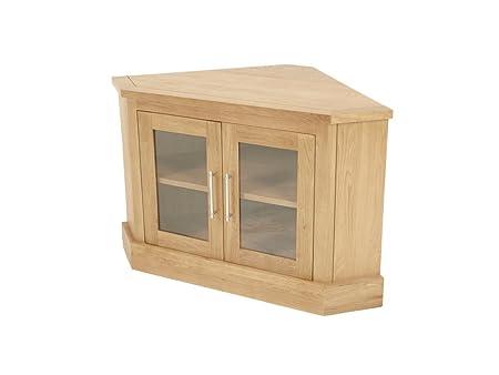 Salem Corner Tv Unit With 2 Glass Doors Corner Plasma Tv Cabinet