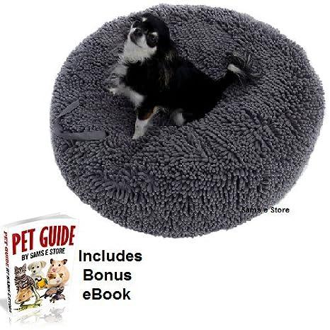 Cojín del animal doméstico gato perro extra grueso Shag Pila antideslizante lavable cómodo moldes para mascotas Forma asa: Amazon.es: Productos para ...