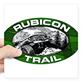 "CafePress Rubicon Trail Green Oval Oval Sticker Square Bumper Sticker Car Decal, 3""x3"" (Small) or 5""x5"" (Large)"
