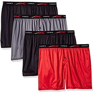 Hanes Men's X-Temp 4-Way Stretch Mesh Knit Boxer 4-Pack