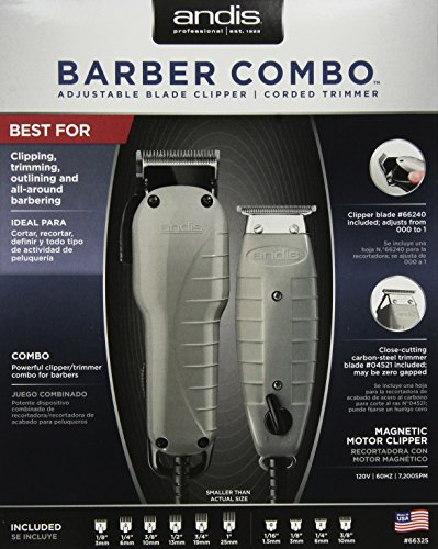 Andis Barber Combo-Powerful Clipper and Trimmer Combo (Clippers And Trimmers)