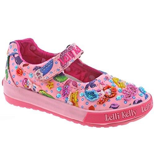 Lelli Kelly LK5008 (BC02) Pink Fantasy Mermaid Baby Dolly Shoes-22 (UK 5.5)