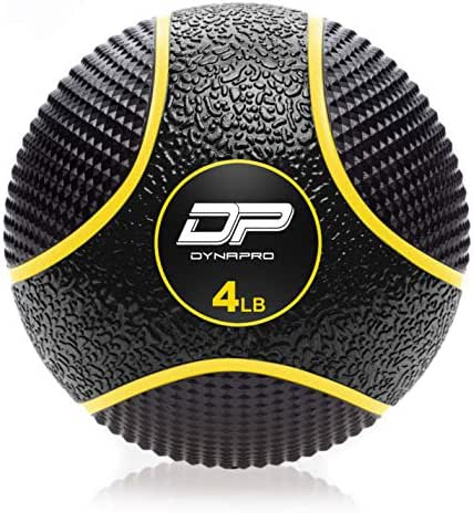DYNAPRO Medicine Ball | Exercise Ball, Durable Rubber, Consistent Weight Distribution, Comfort Textured Grip for Strength Training