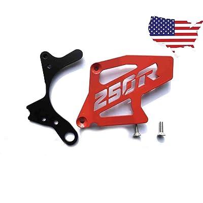 ATC250R ATC 250R TRX 250R TRX250R CASE SAVER WITH SPROCKET COVER RED: Automotive