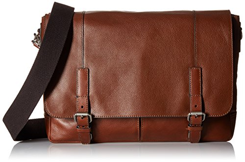 Fossil Graham East West Leather Cognac Messenger Bag, Cognac by Fossil