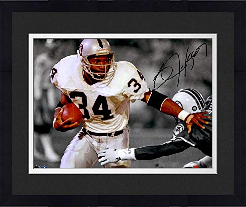 Framed Bo Jackson Oakland Raiders Autographed 11'' x 14'' Spotlight Photograph - Fanatics Authentic Certified Autographed Bo Jackson Photograph