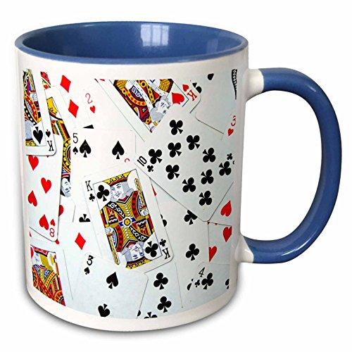 3D Rose 6 mug_112896_6 Ceramic, Blue/White