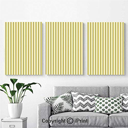 3PCS Triple Decoration Painting Wall Mural Circus Tent Inspired Vintage Retro Stripes Modern Image Living Room Dining Room Studying Aisle Painting,16